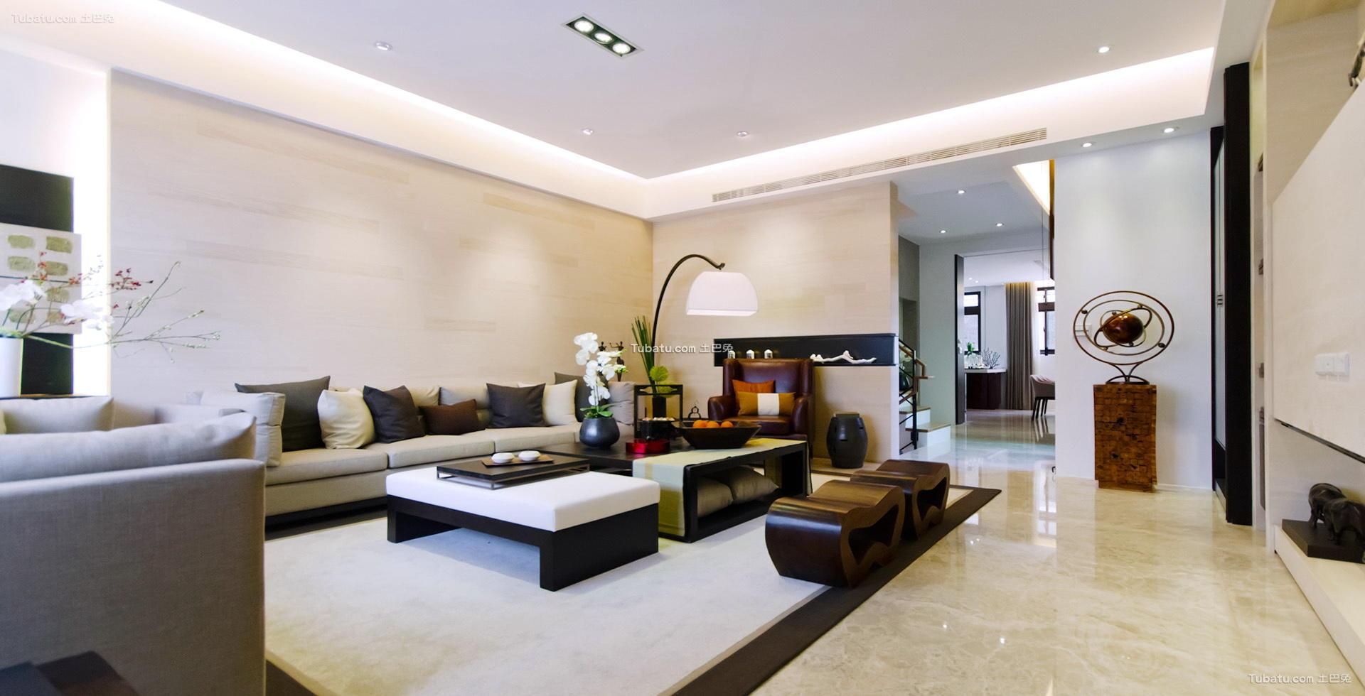 中式优雅设计客厅效果图