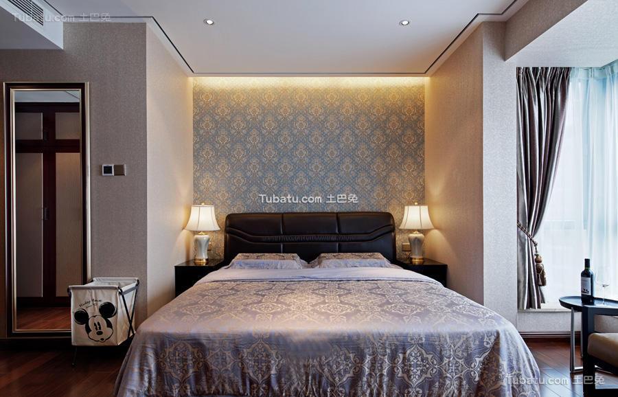 现代中式风格卧室家装效果图