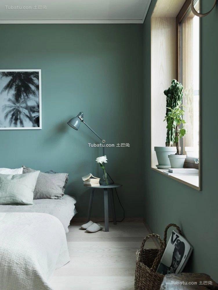 绿色宜家设计飘窗效果图