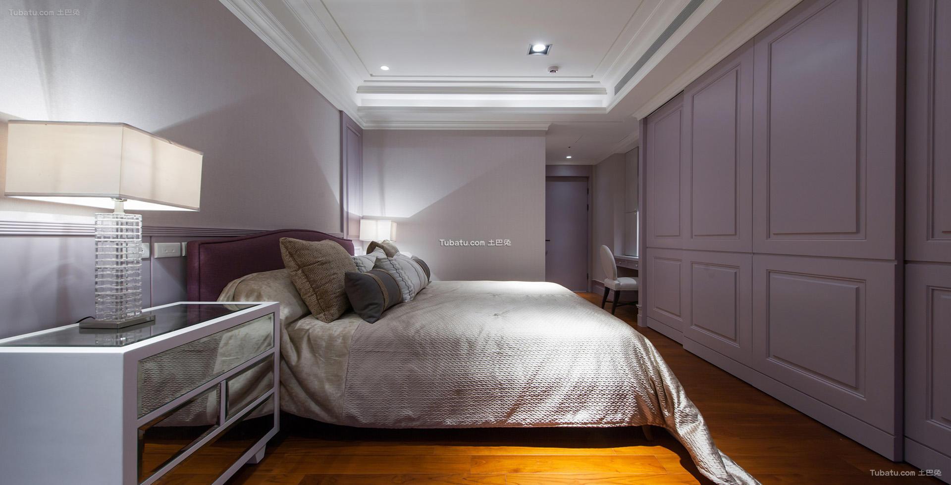 中式典雅设计卧室吊顶家装效果图