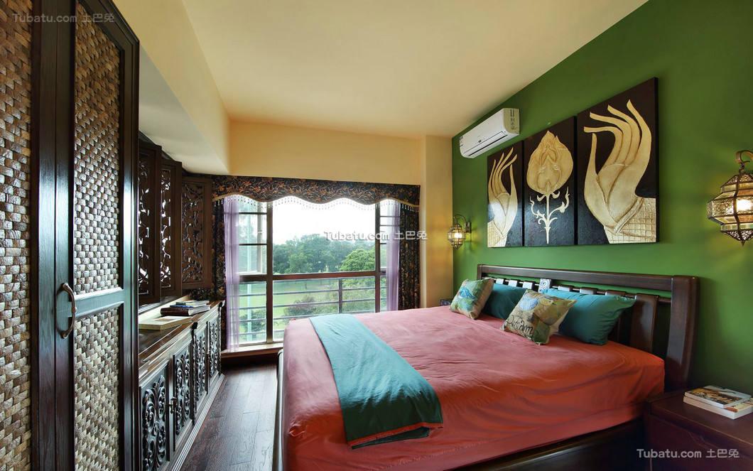 东南亚风格设计卧室效果图
