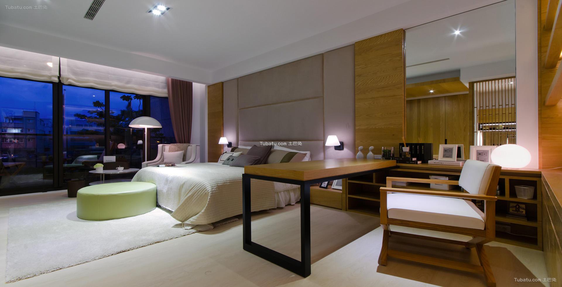 中式优雅卧室家装效果图