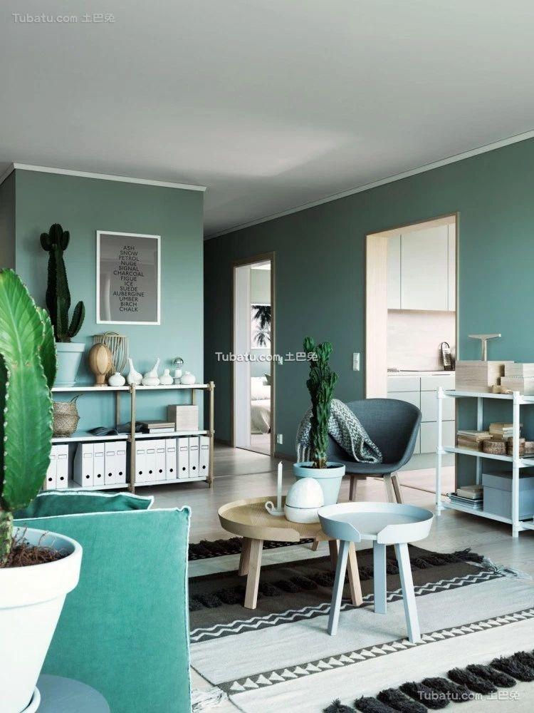 绿色宜家设计照片墙效果图