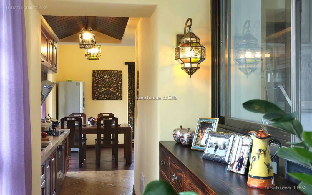 东南亚设计餐厅效果图