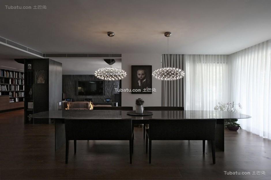 现代美式餐桌 效果图