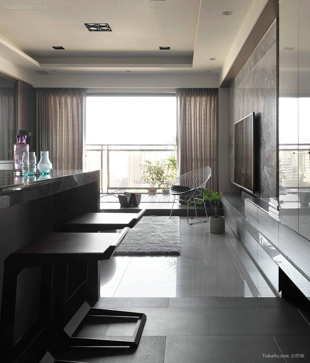 现代时尚一居室设计效果图