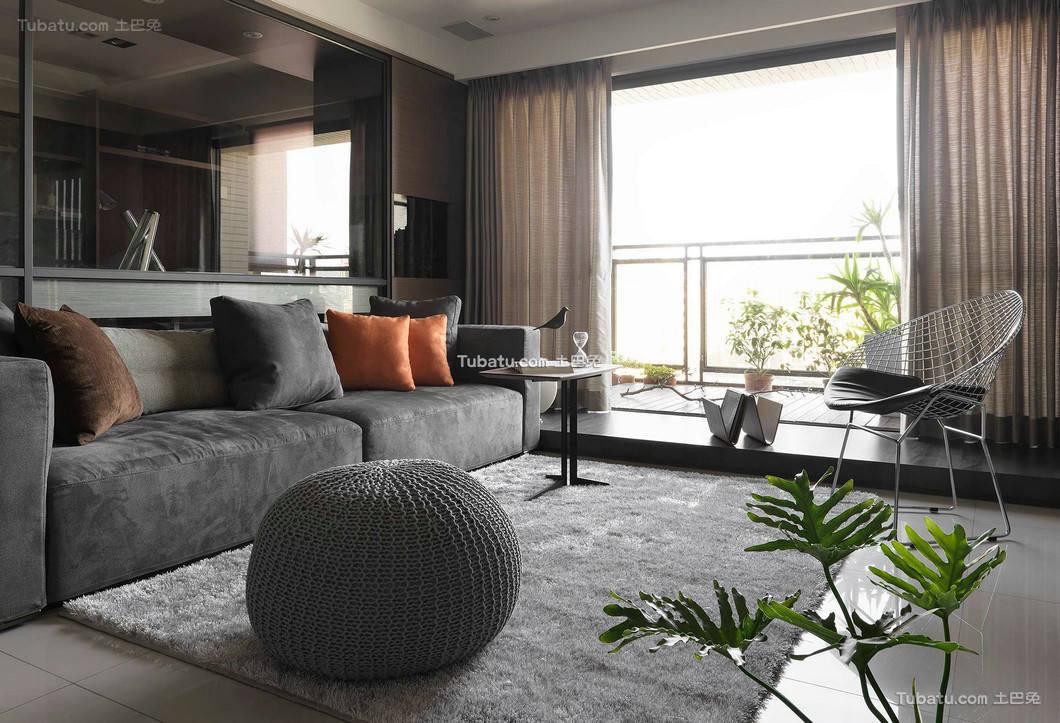 现代时尚客厅设计家装效果图