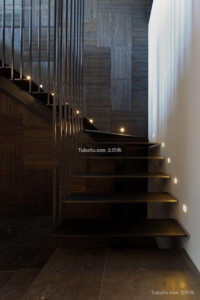 现代美式楼梯设计 效果图