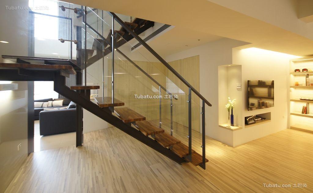 简约现代风格楼梯设计效果图