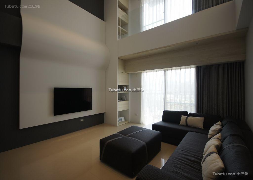 简约现代电视背景墙家装效果图