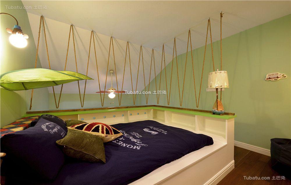 香草色欧式儿童房设计