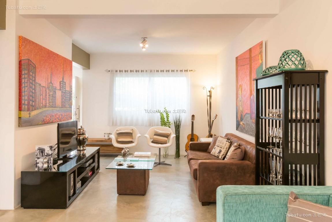 美式现代家装电视背景墙设计