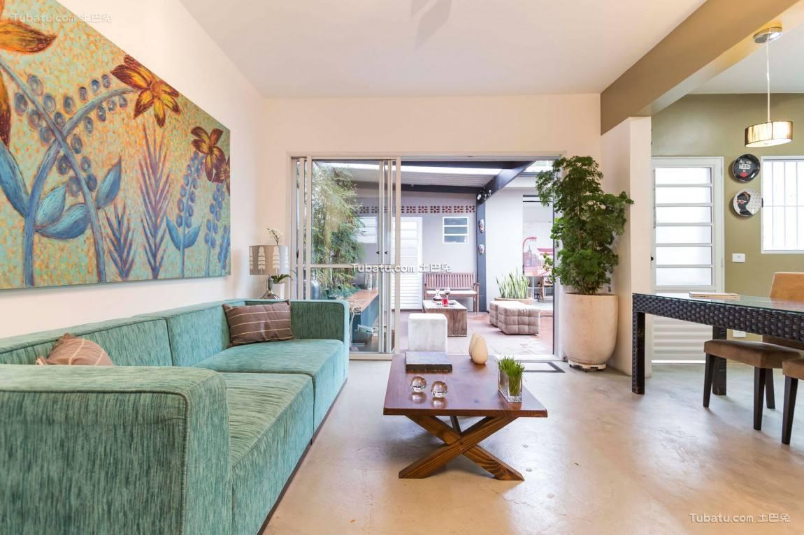 美式现代家装沙发背景墙设计