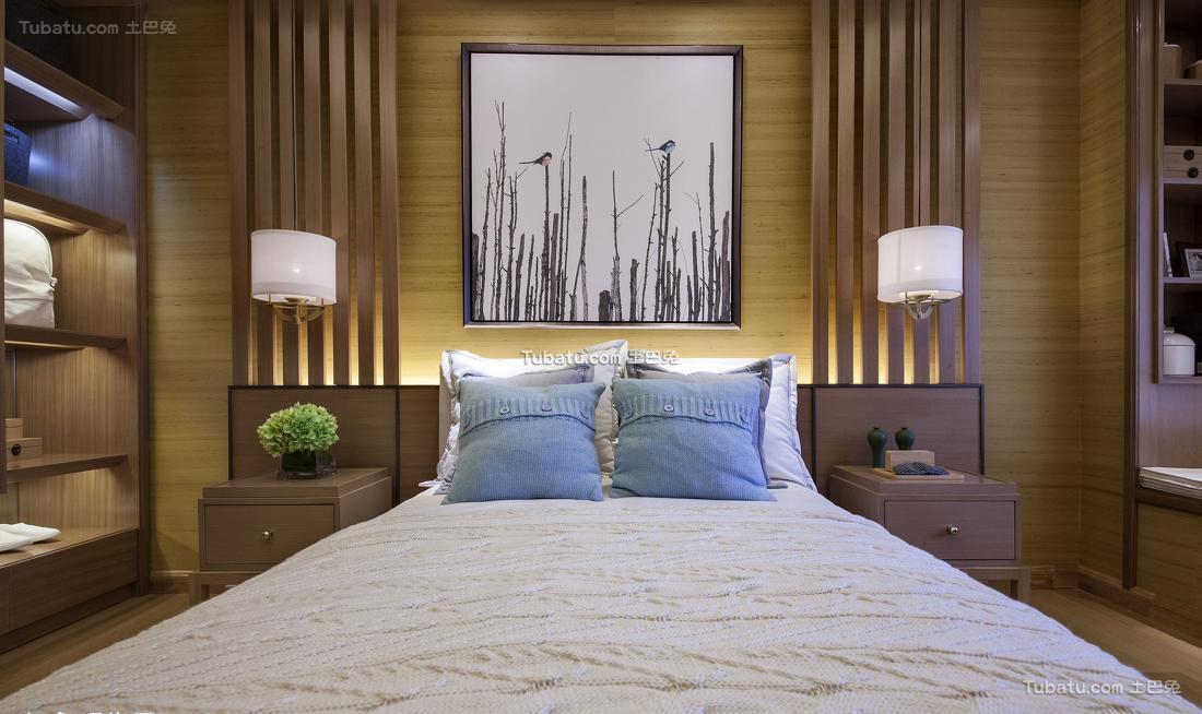 中式卧室背景墙装修图册