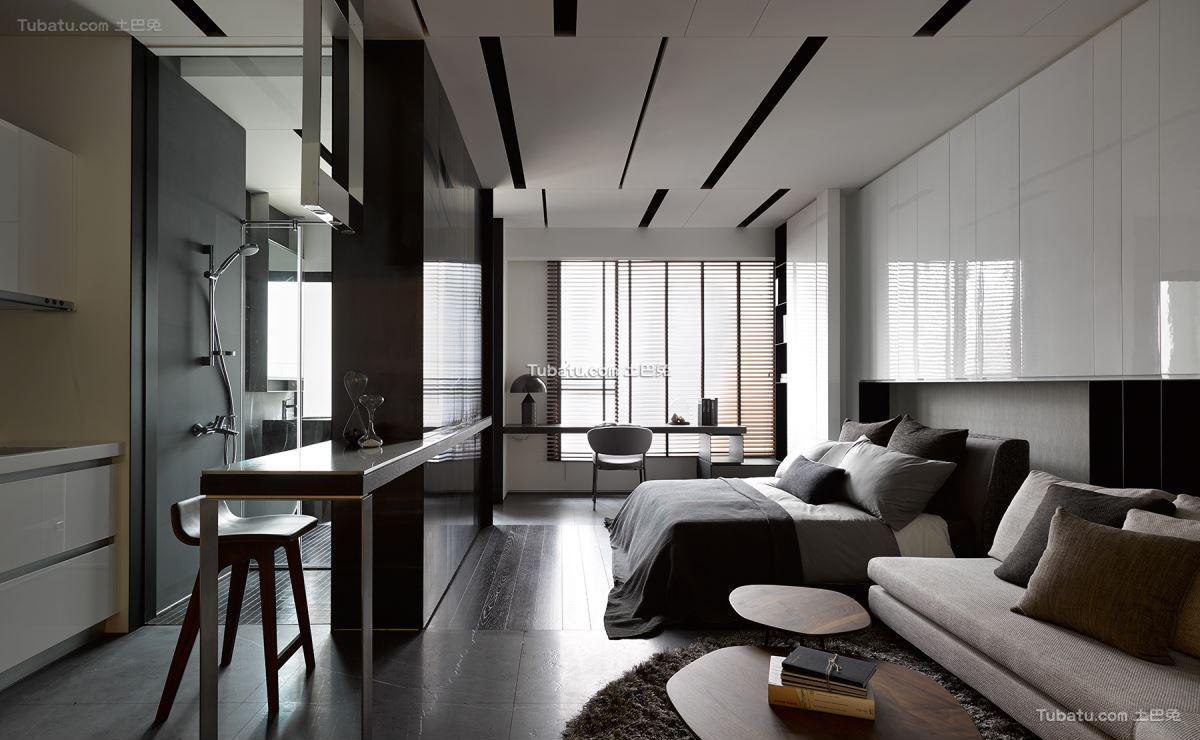 现代风小户型家装效果图