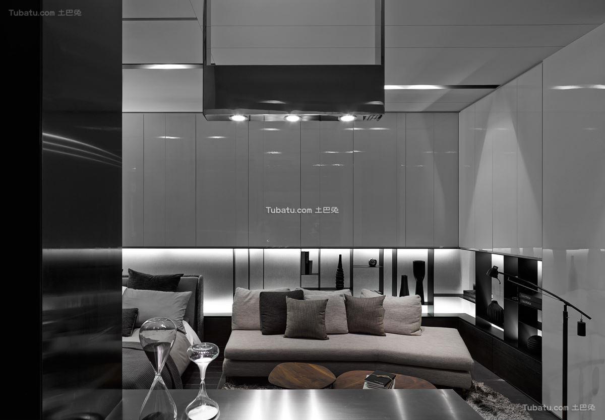 现代风沙发背景墙效果图