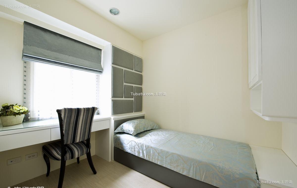 欧式格调卧室背景墙设计装修图