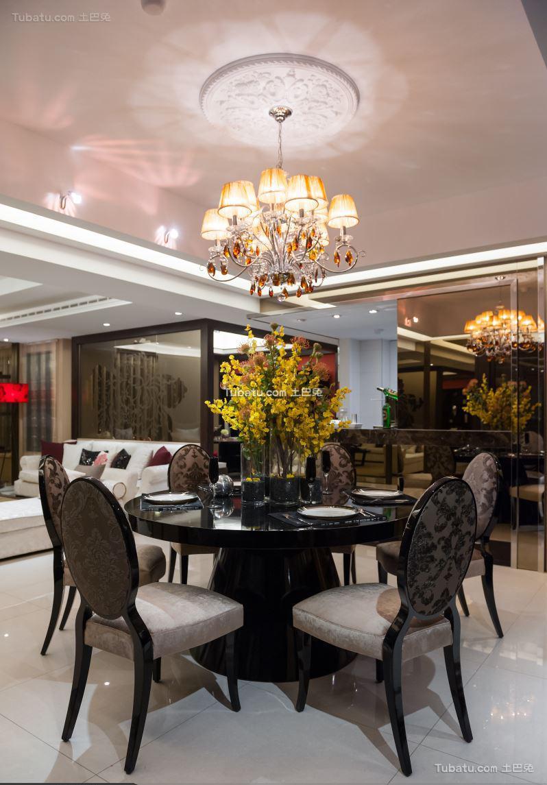 中式餐厅装修图设计