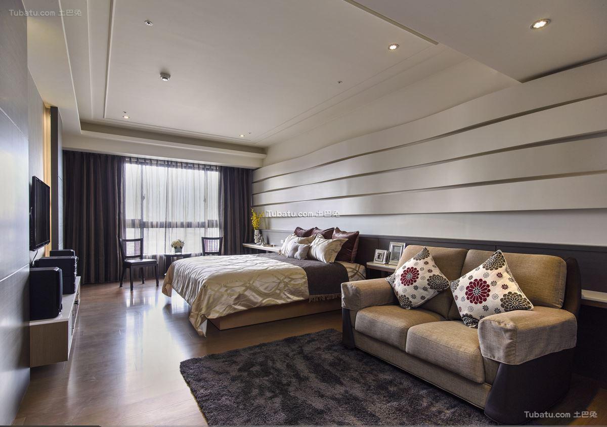 中式东方风华卧室背景墙设计