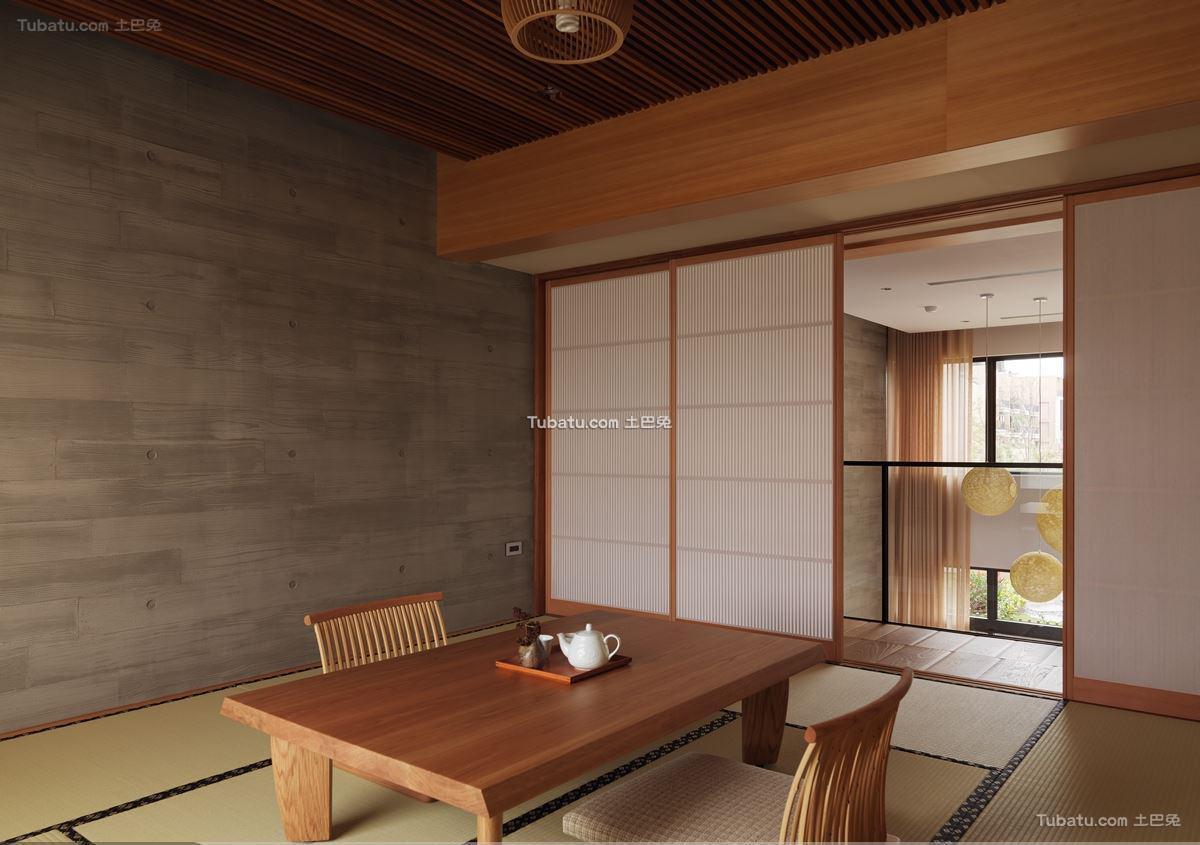 日式风隔断家装设计