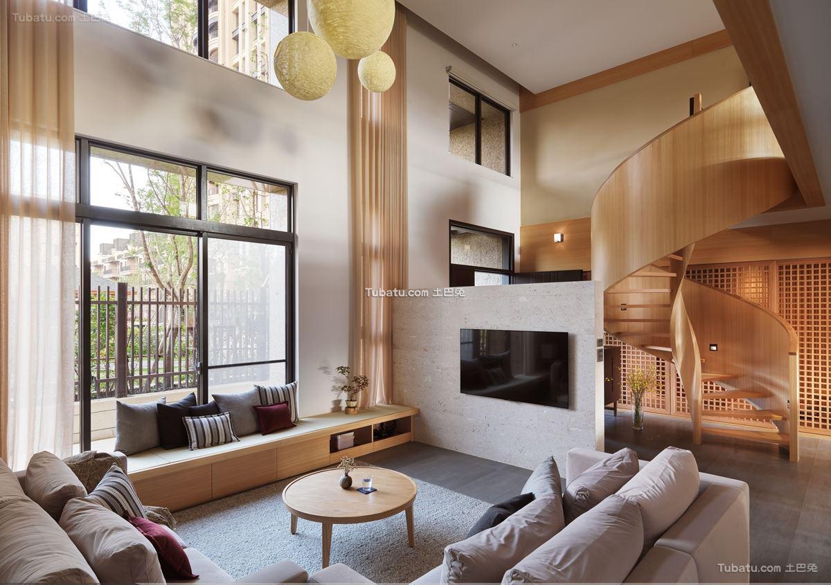 日式风复式楼家装设计