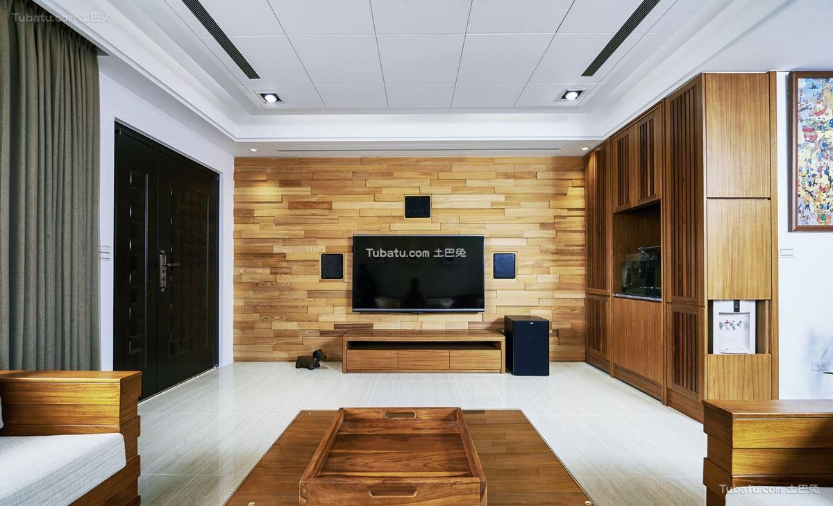 中式风家装电视背景墙设计大全