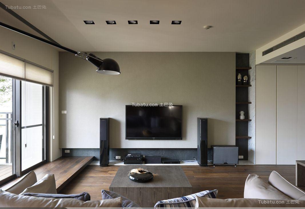 简约电视背景墙装修图设计