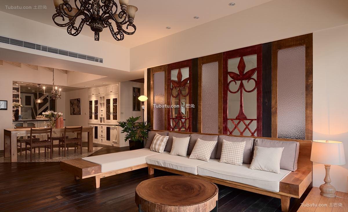 中式装修四居室设计效果图