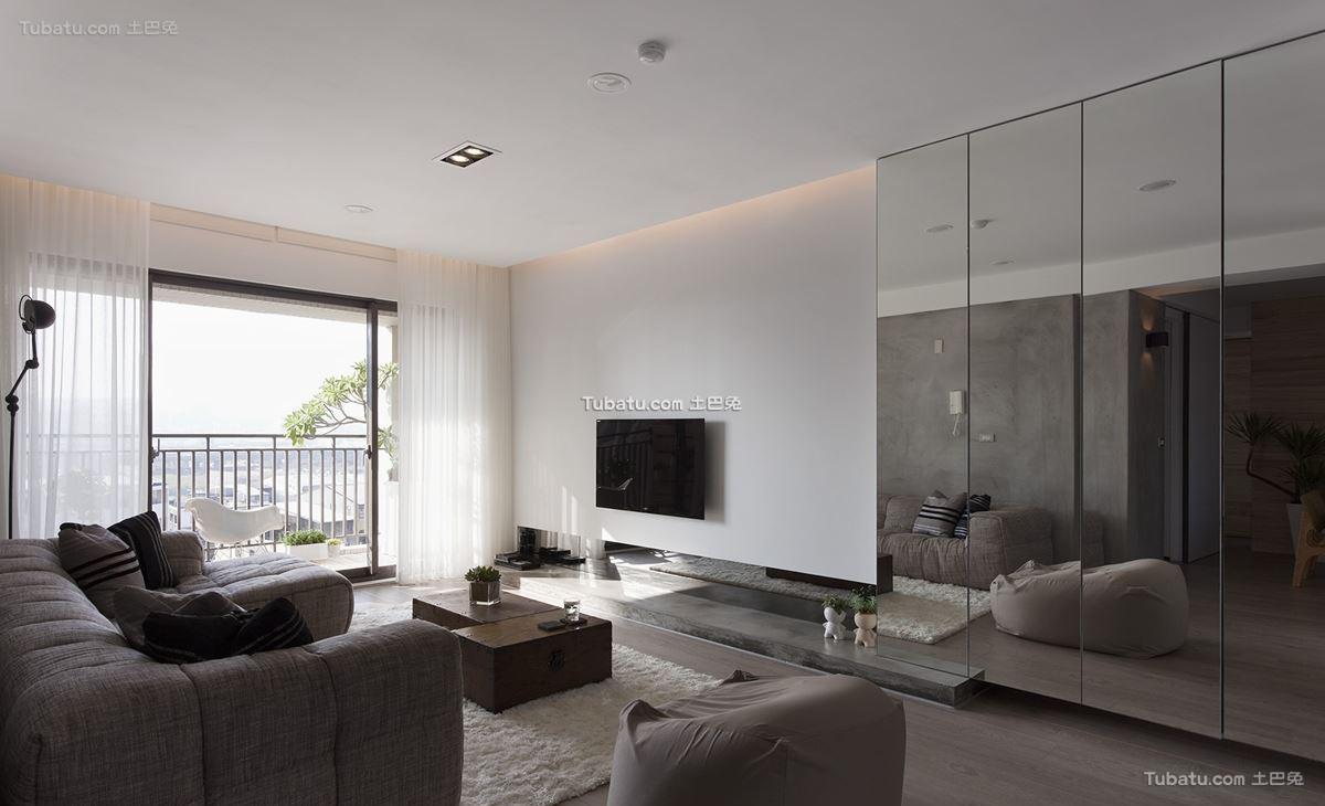 现代简约一居室装修效果图设计