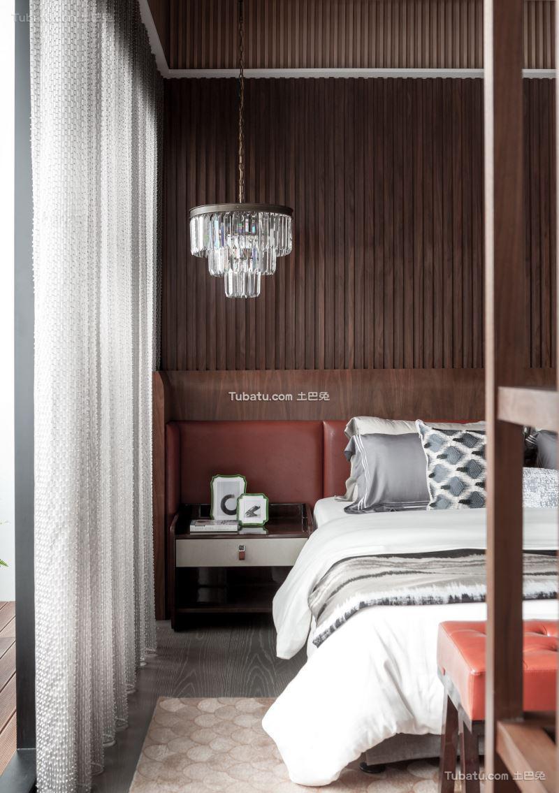 中式床头柜