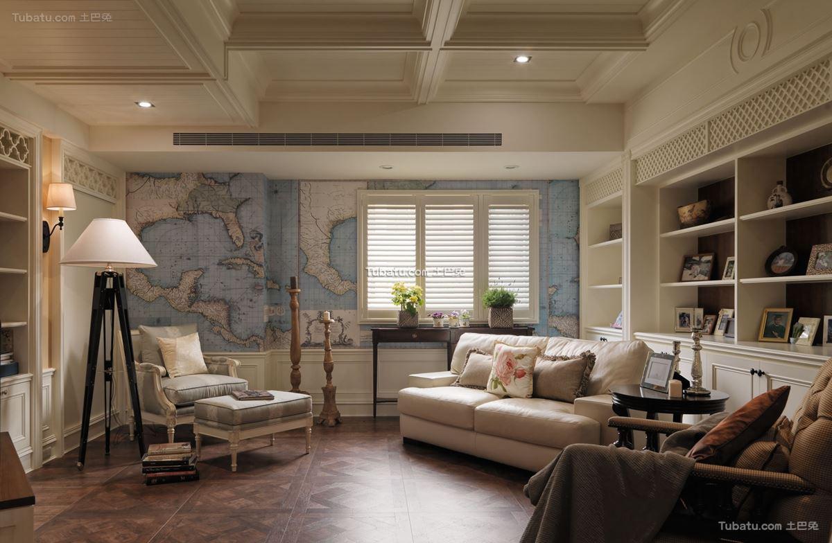 美式家装书房效果图设计