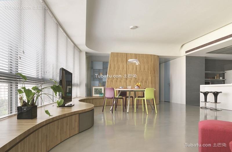 现代简约一居室效果图设计