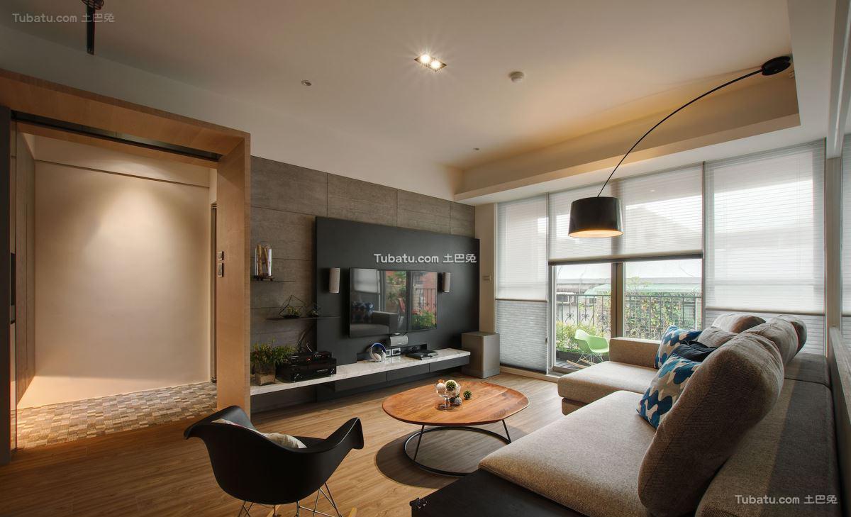现代风二居室效果图设计