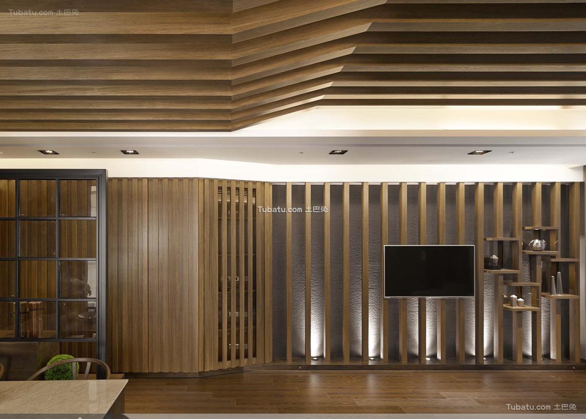 日式风格电视背景墙效果图设计