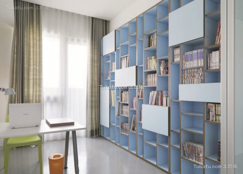 现代简约书房效果图设计