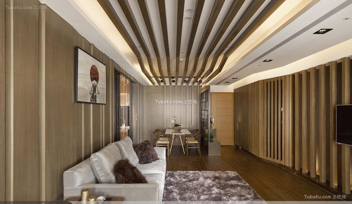 日式风格客厅吊顶效果图设计