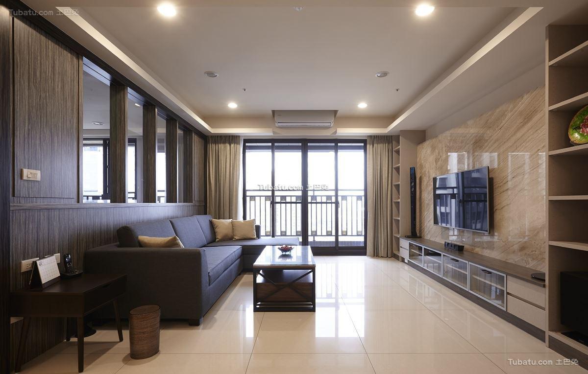 中式时尚风二居室效果图设计