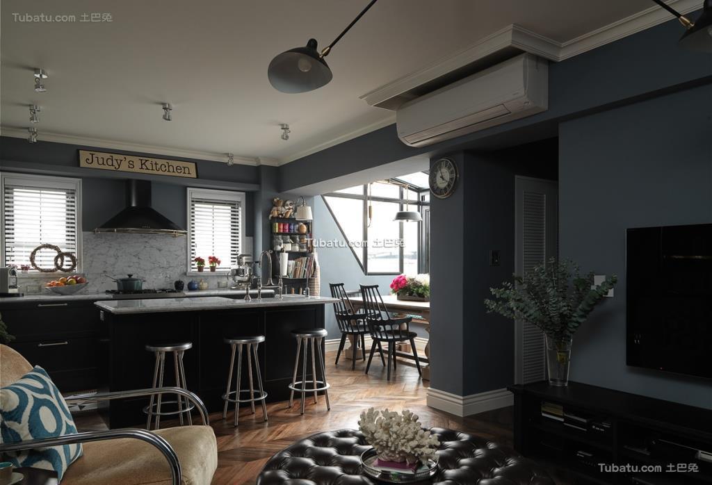 美式家装吧台效果图设计