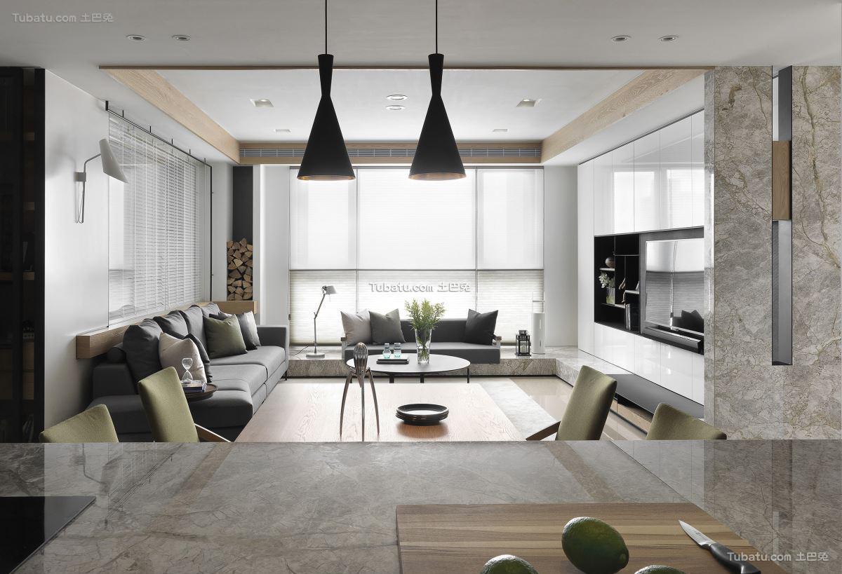 现代风格四居室效果图设计