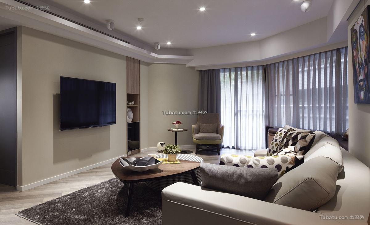 中式休闲风电视背景墙设计