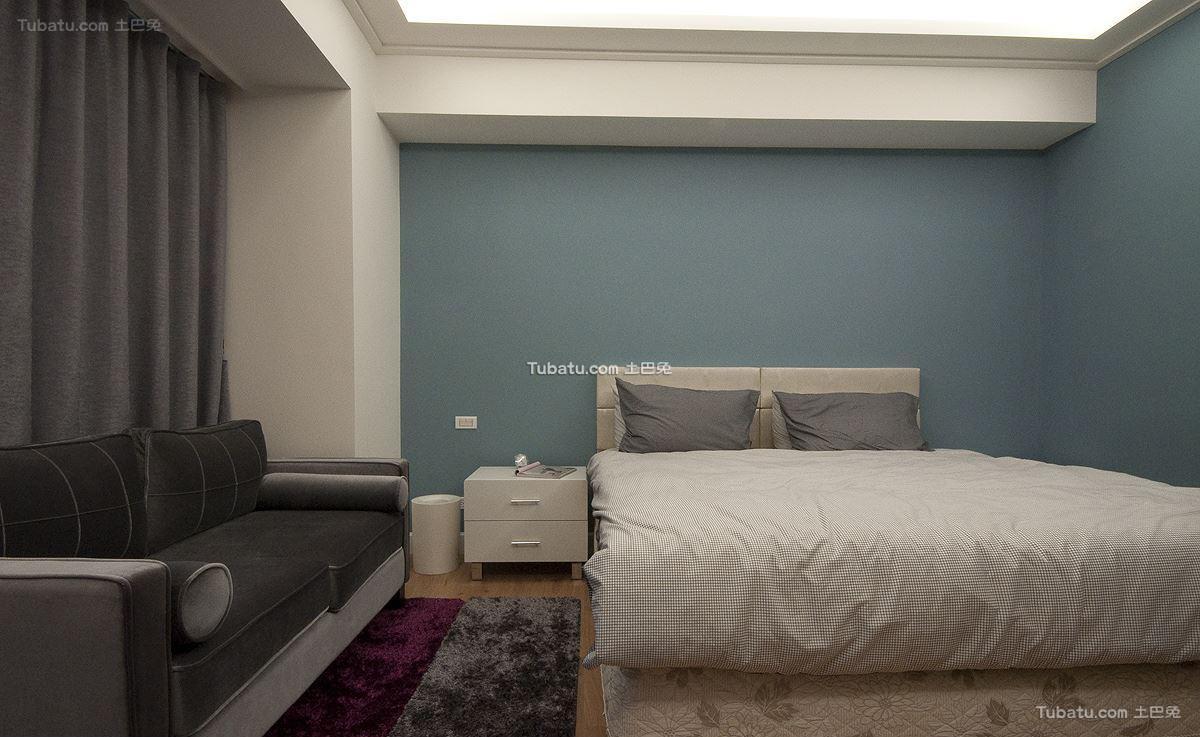 美式风摩卡卧室效果图