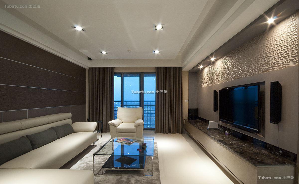 美式风摩卡客厅设计