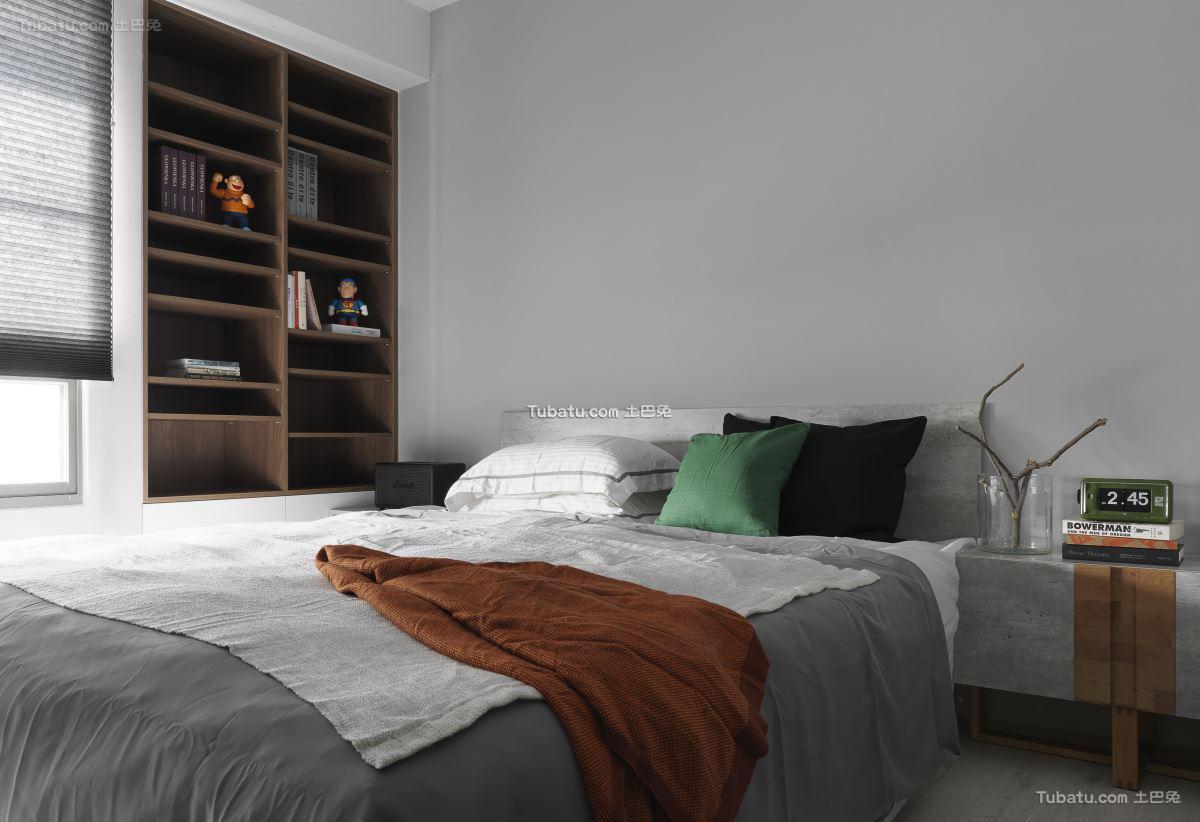 现代摩登卧室效果图