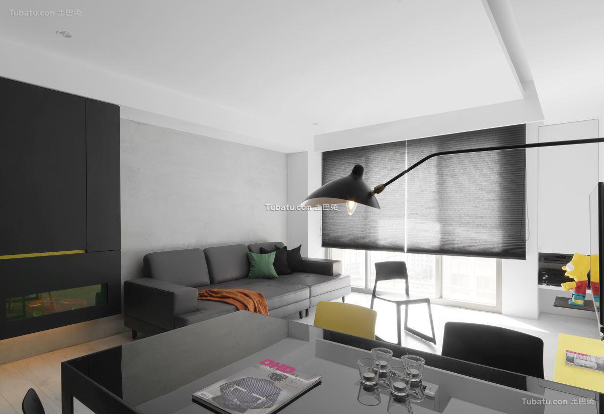 现代摩登三居室效果图
