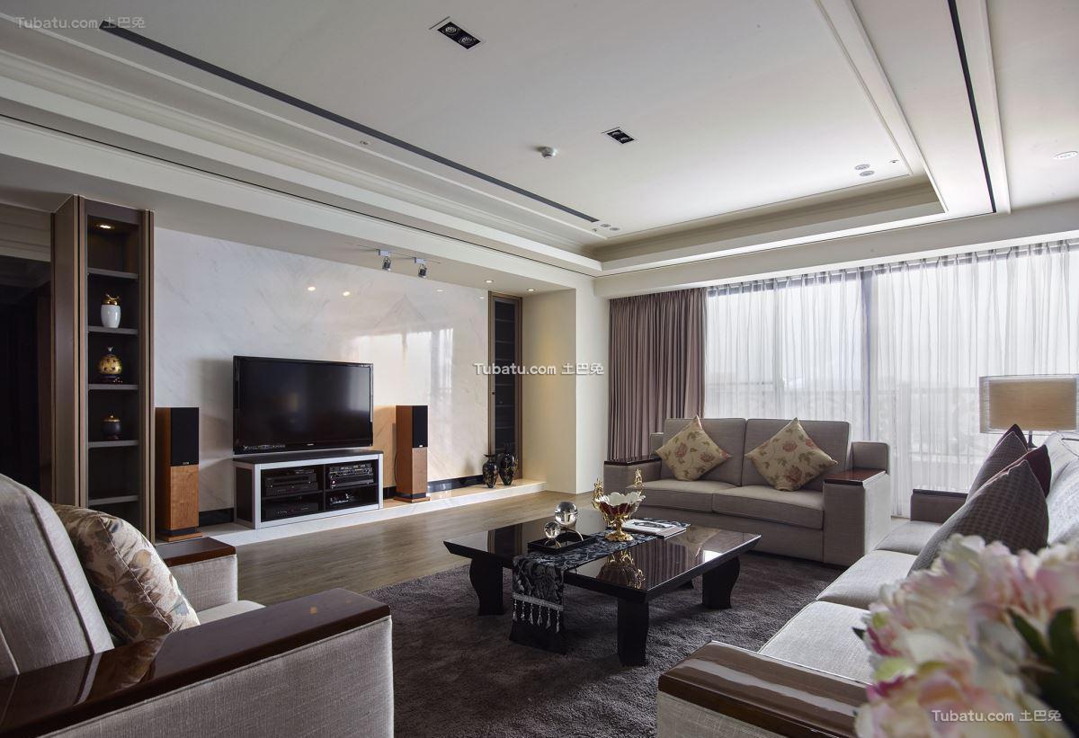 现代中式四居室设计