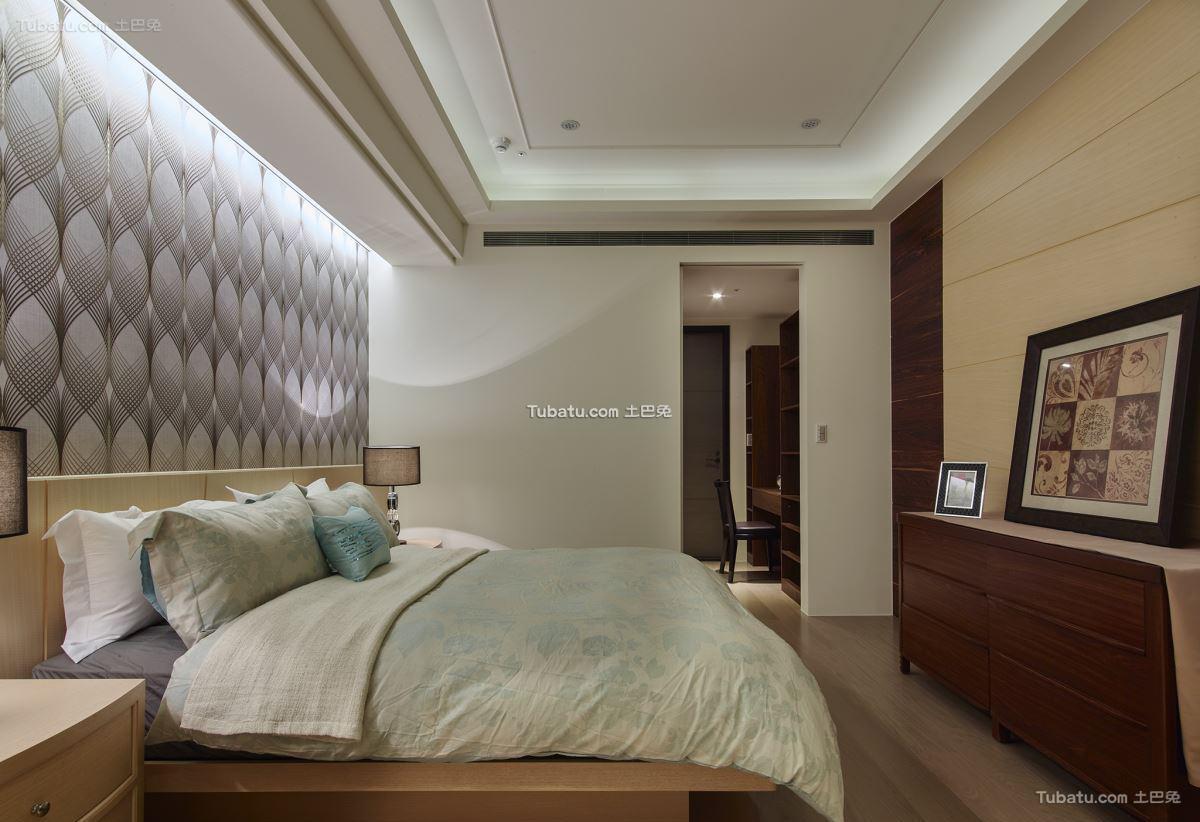 现代中式卧室装修设计
