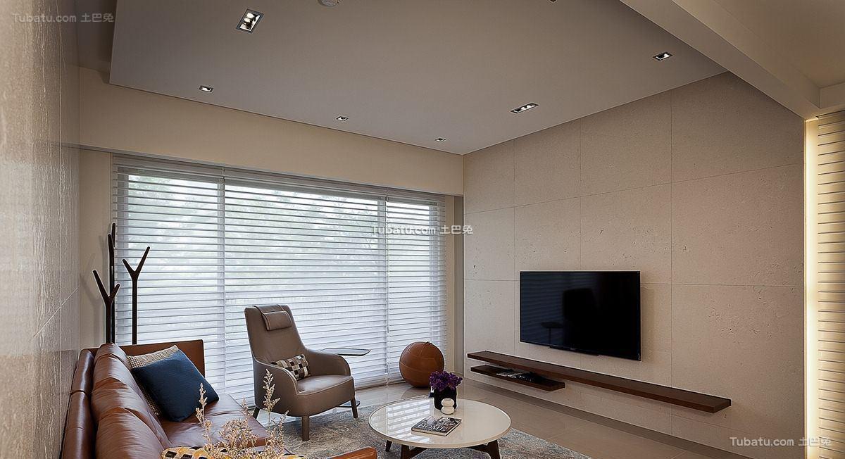 现代风家装电视背景墙效果图装修