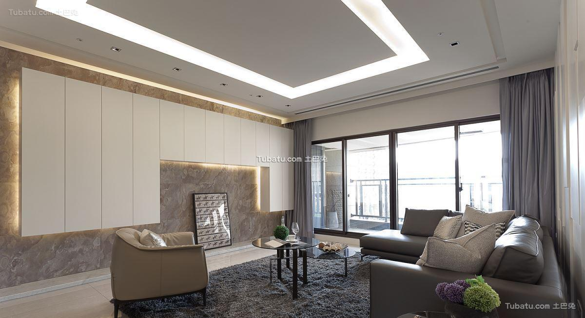 现代风家装二居室效果图装修