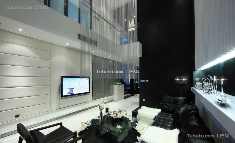现代风气家装客厅效果图