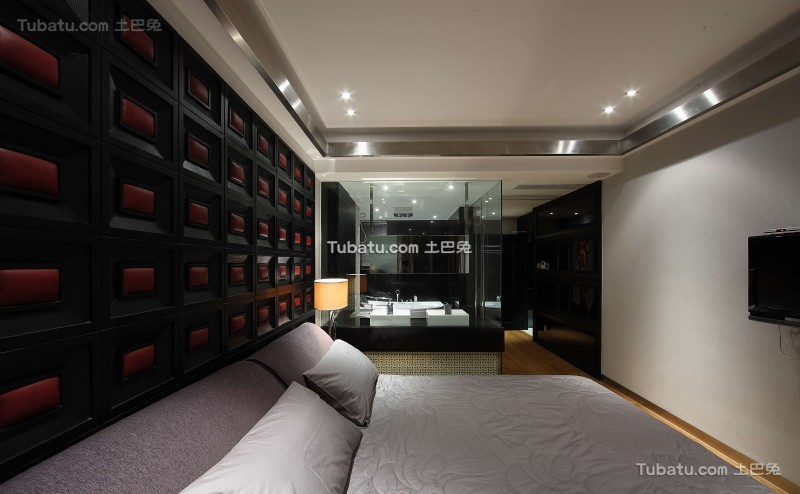 现代风气家装卧室效果图